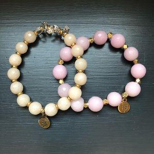 Bourbon and Bowties Beaded Bracelets (2 bracelets)